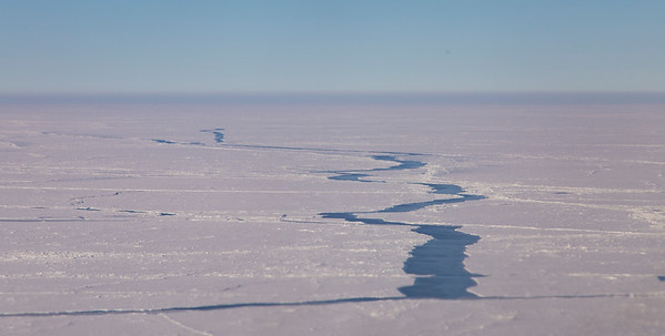 A lead meandering through the sea ice in the Fram Strait