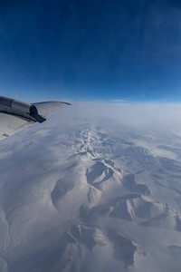 A spine of mountains as we pass over Ellesmere Island