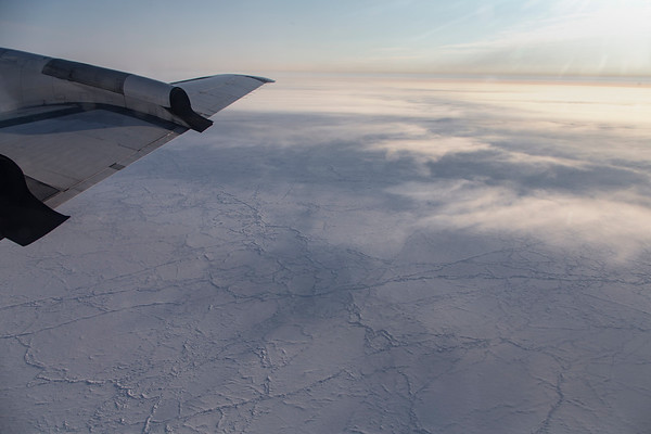 The sea ice just off Axel Heiberg Island, still during transit to the line