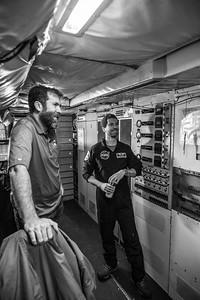 Craig and Joe chat with John during pre-flight