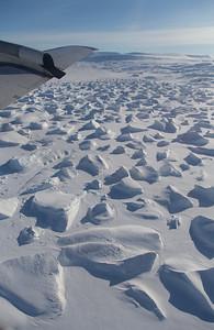 An iceberg graveyard in lower Hagen Fjord