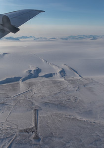 Passing over Camp Tuto, just inland from Thule Air Base