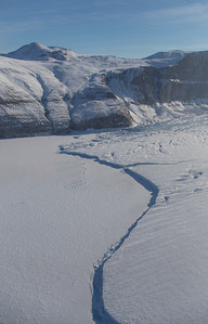 The thin calving front of Steensby Glacier