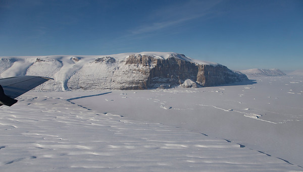 The calving front of Ryder Glacier