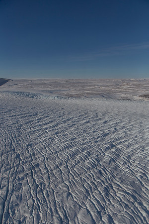 Crevasses along upper Ryder Glacier