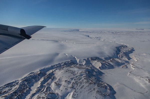 The edge of the Greenland ice sheet just west of Danmark Fjord