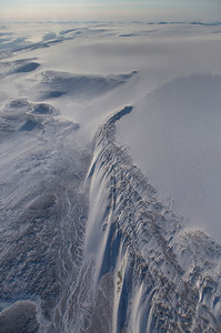 """The terminal moraine of """"The Great Land Glacier"""""""