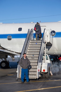 Joe about to board the P-3