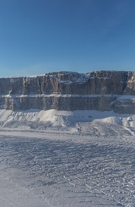 The vertical walls of Steensby Glacier