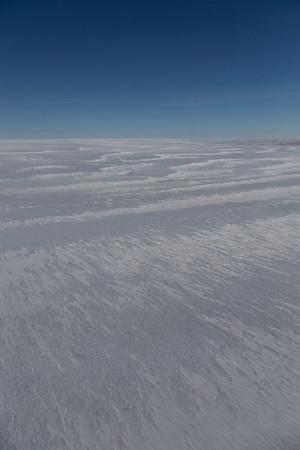 Snow lines on the surface of upper Ryder Glacier