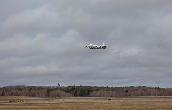 NASA 426 over the Bangor runway