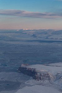 View just after takeoff from Thule, NW over Saunders Island