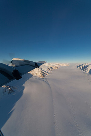 A medial moraine on Devon Icecap