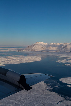Sea ice and the southern edge of Devon Island along Lancaster Sound