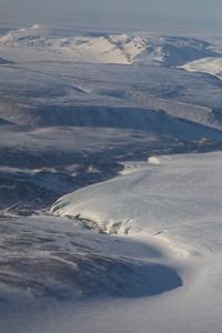 Bare ice along the edge of Devon Icecap