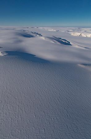Snow dunes on Devon Icecap