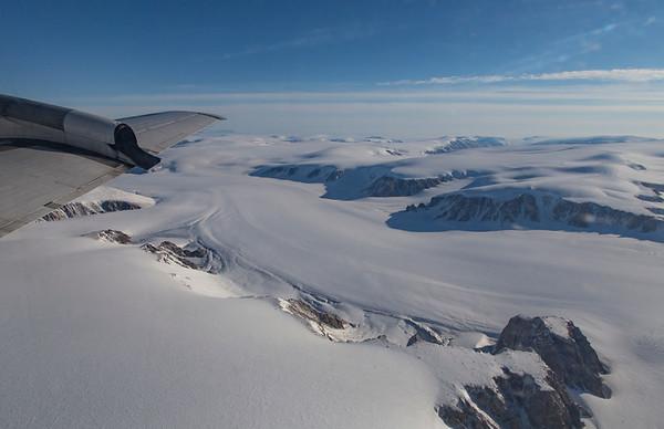 Two glaciers meet on Devon Island