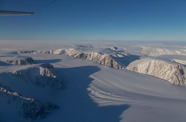 A glacier along the edge of Devon Icecap