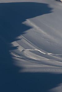 A crack in the flowlines of a Devon Icecap glacier