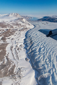 Edge of a Glacier just south of Zachariae Isstrom