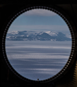 View west from my seat on the P-3 of Lambert Land