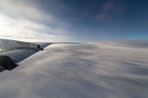 View out across the Greenland ice sheet near the divide