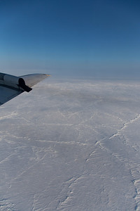 Consolidated pack ice along the beginning of the line in Fram Strait