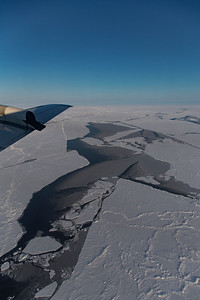 A lead in the sea ice north of Greenland