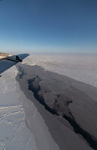A lead in the pack ice north of Greenland