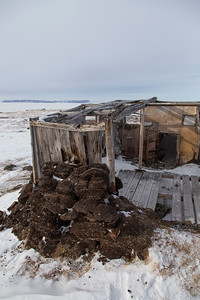 One of the old native Greenlandic sod homes near Dundas Village