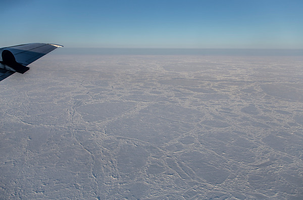 Large sea ice floes near the southern end of our racetrack