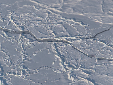 A lead covered by somewhat thin sea ice