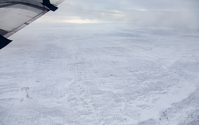 Snow-filled surface striations show the ice sheet used to extend further into Inglefield Land
