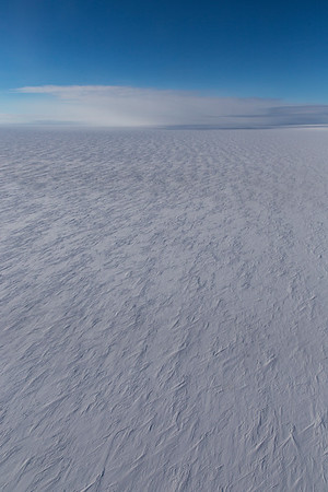 Snow dunes and barchans inland from Academy Glacier