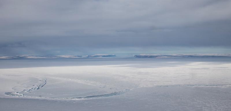 Looking down Ryder Glacier