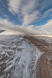 A frozen braided-river valley in Warming Land