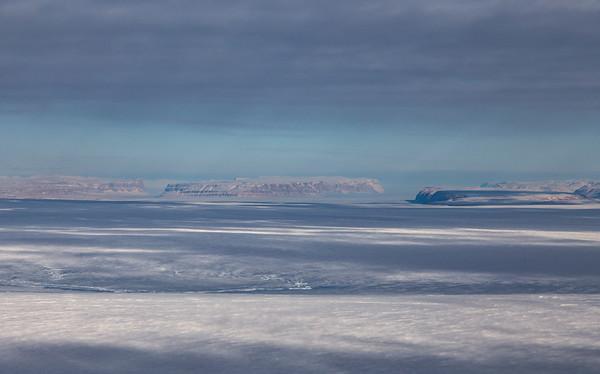 Looking down Ostenfeld Glacier