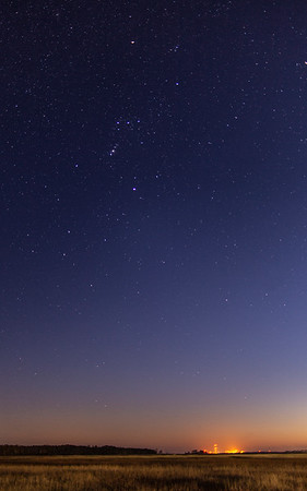 Orion over Wallops Island rocket launching facility