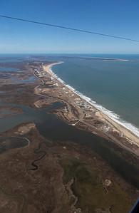 View down Wallops Island during the GPS test flight