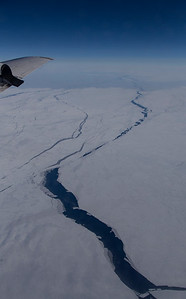 Crossing a sea ice covered Baffin Bay