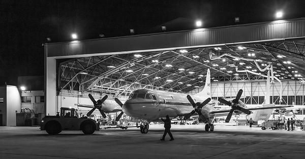 NASA 426 being towed out of the Wallops hangar