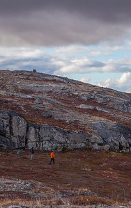 John and Serdar hiking Mt. Evans