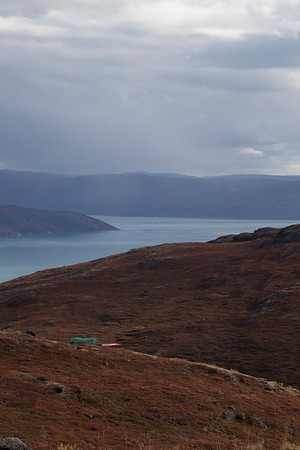View of Kangerlussuaq from the slopes of Mt. Evans