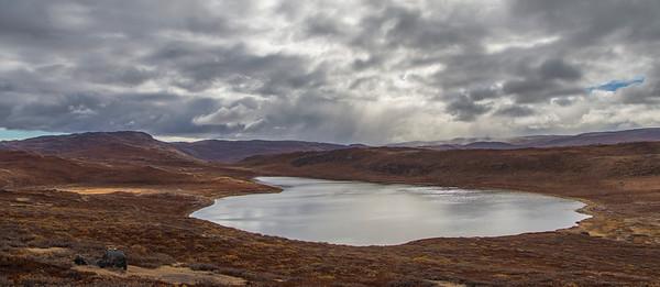 Lake Ferguson, a lake southeast of Kangerlussuaq