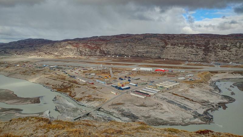 A close-up of Kangerlussuaq from Black Ridge