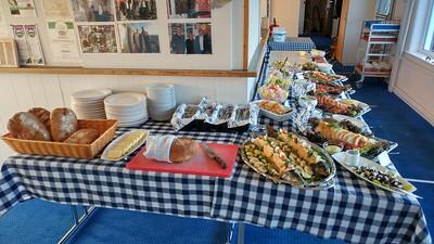 The buffet at Restaurant Roklubben, just outside of Kanger