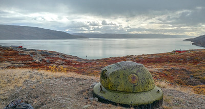 A relic from the days when this was a WWII base, overlooks the fjord