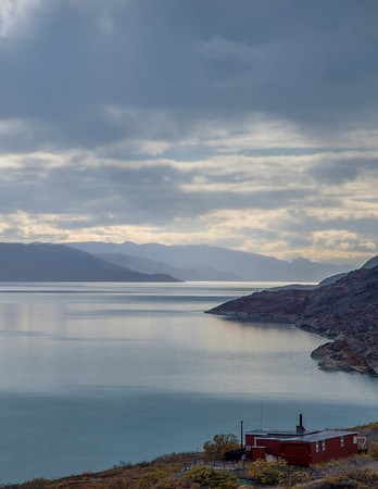 Looking down the fjord near Kangerlussuaq