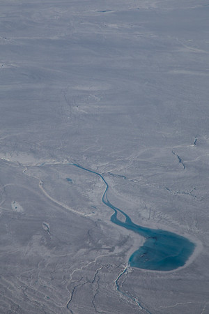 Another large melt pond in western Greenland