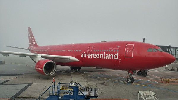 My plane I take to Kanger from Copenhagen